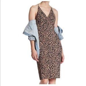 NWT Topshop cheetah print midi dress size 4